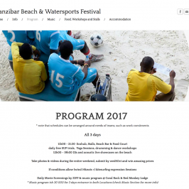 Zanzibar Beach and Water Sports Festival 2017 supported by Safari Blue