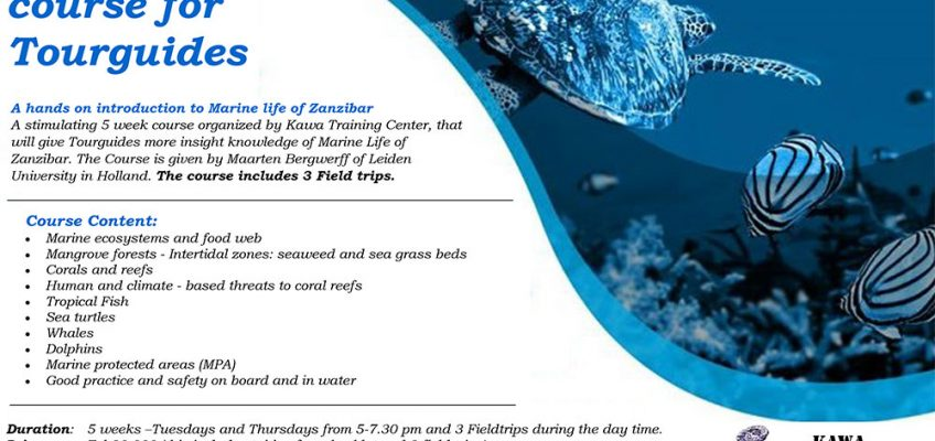 poster marine life refresher course for tourguides